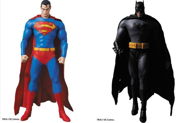MEDICOM SUPERMAN AND BLACK SUIT BATMAN REAL ACTION HEROES FIGURES COMING IN JUNE