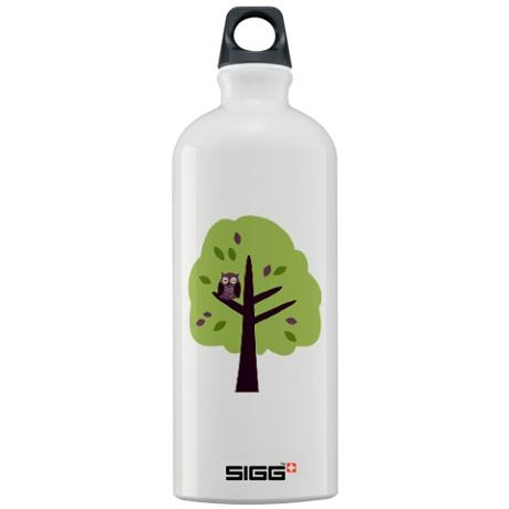 Kitschy Owl in a Tree Sigg Water Bottle