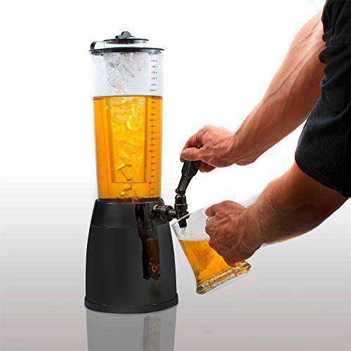 4,0L Biersäule Zapfsäule Kult Biertower. Getränkespender mit 1,3 L Eiskühlung.  Ohne Kühlelement besitzt die Trinksäule gigantische 4 Liter Volumen.