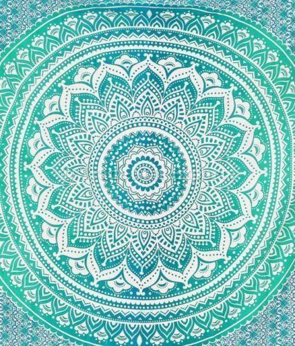 Ombre Mandala Wall Hanging Gypsy Indian Tapestry Bohemian Dorm Decor Hippie Art #TradeStarExports #ArtDecoStyle