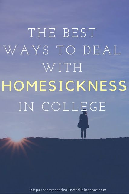 BTS: The Best Ways To Deal With Homesickness in College  We get so excited at the thought of college because we picture ourselves being independent, living it up and just having lots of fun. However, I don't think most of us realize how much we are going to miss home when we are finally in college.