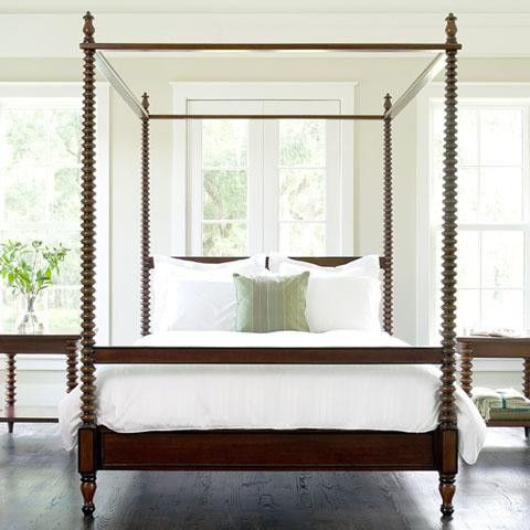 Beacon Hill Spool Post Convertible Canopy Bed (Custom Colors)