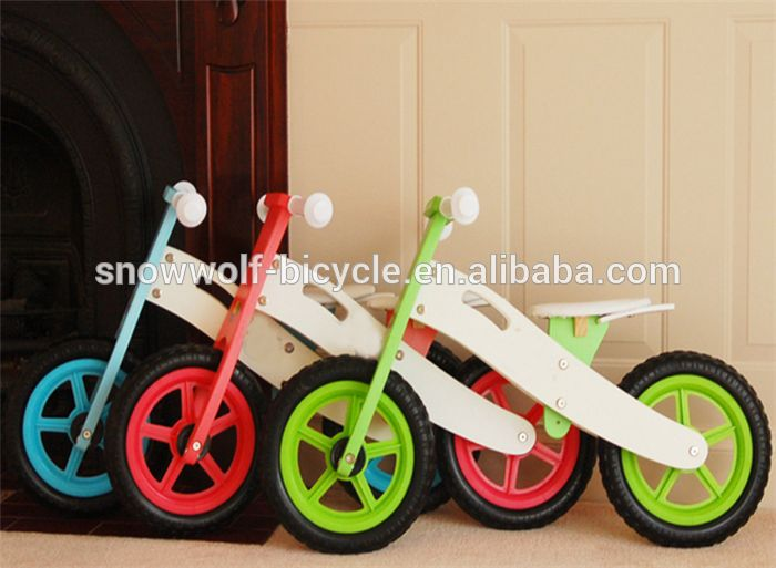 balance bike wood baby walker kid bicycle for 3 years old children