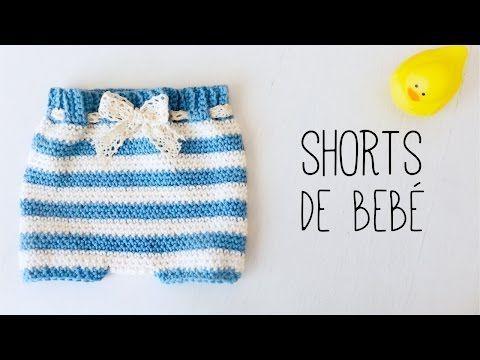 Cómo tejer CUBREPAÑAL. SHORTS de bebé a crochet - (ENGLISH SUBS) TUTORIAL PASO A PASO, My Crafts
