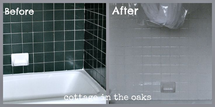 Genius method to cover ugly (dark) colored tile and make it look clean and new. Miracle for the bathroom (or kitchen)