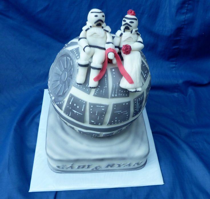 Hvězdné války-svatební dort pro americko-českou dvojici