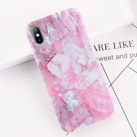 Pink Blue Marble TPU Phone Case From Touchy Style Outfit Accessories.| Variant: …