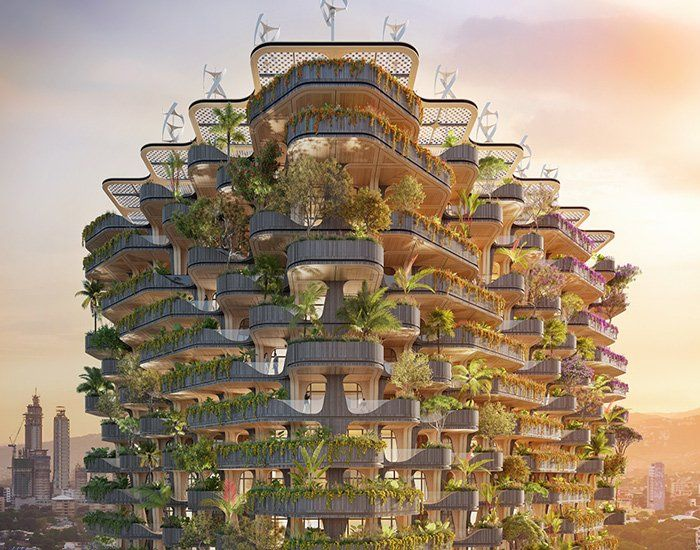 Vincent Callebaut Plans Rainbow Tree Residential Tower For The
