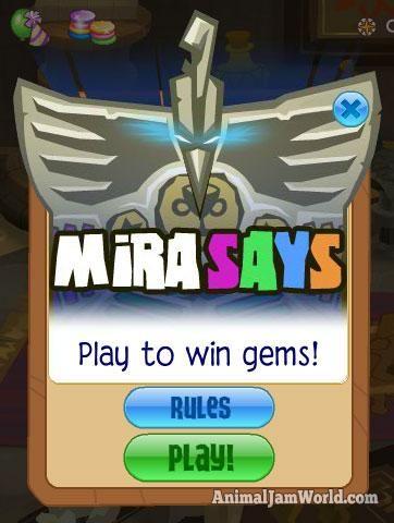 Mira Says Cheats for Animal Jam mirasays  #AnimalJam #Games #MiraSays http://www.animaljamworld.com/mira-says-cheats-for-animal-jam/