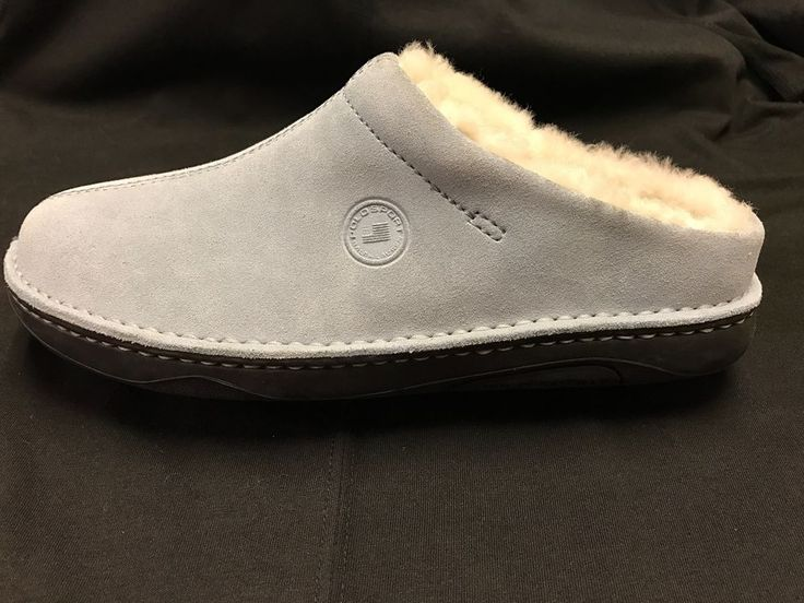 RALPH LAURN Polo Sport Women's 7.5B Baby Blue Suede Sherpa Mules / Clogs Shoes  | eBay