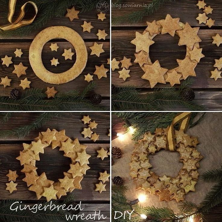 Christmas gingerbread wreath DIY