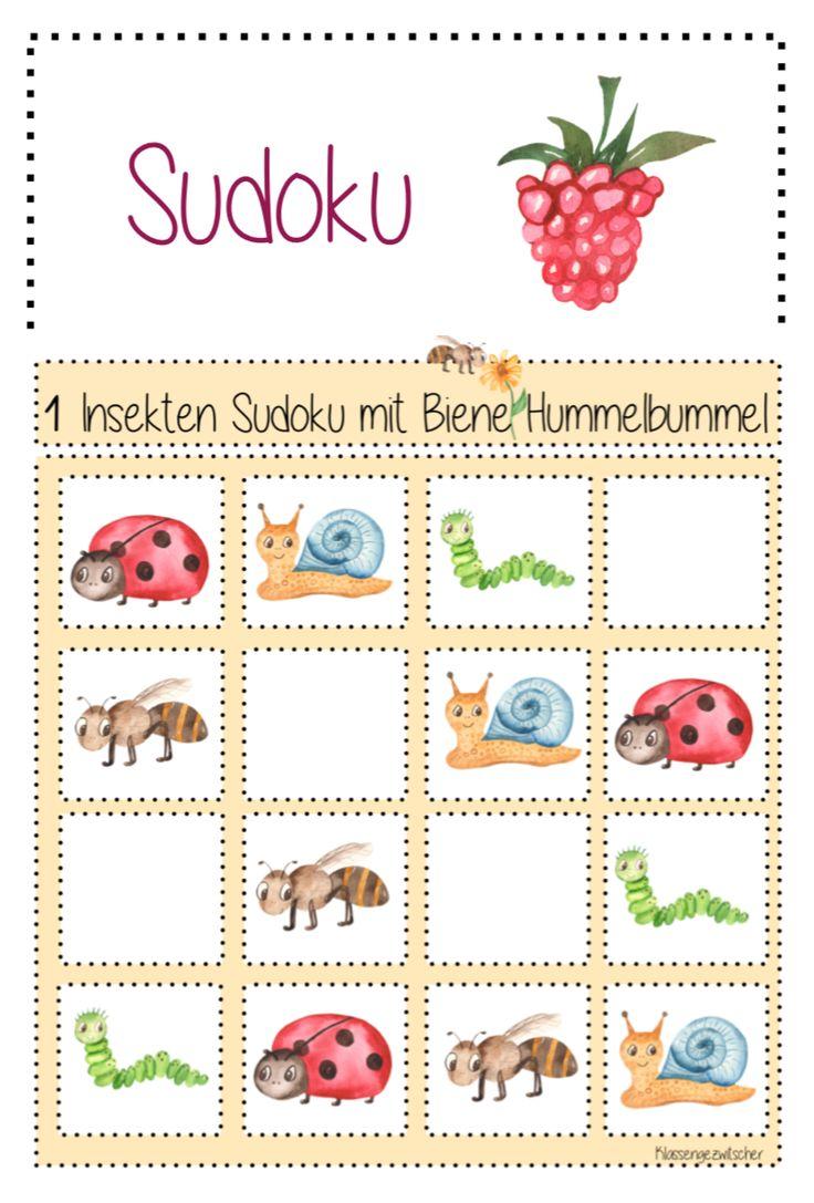 Logikspiel für deinen Unterricht   Bienen, Sudoku, Unterricht ideen