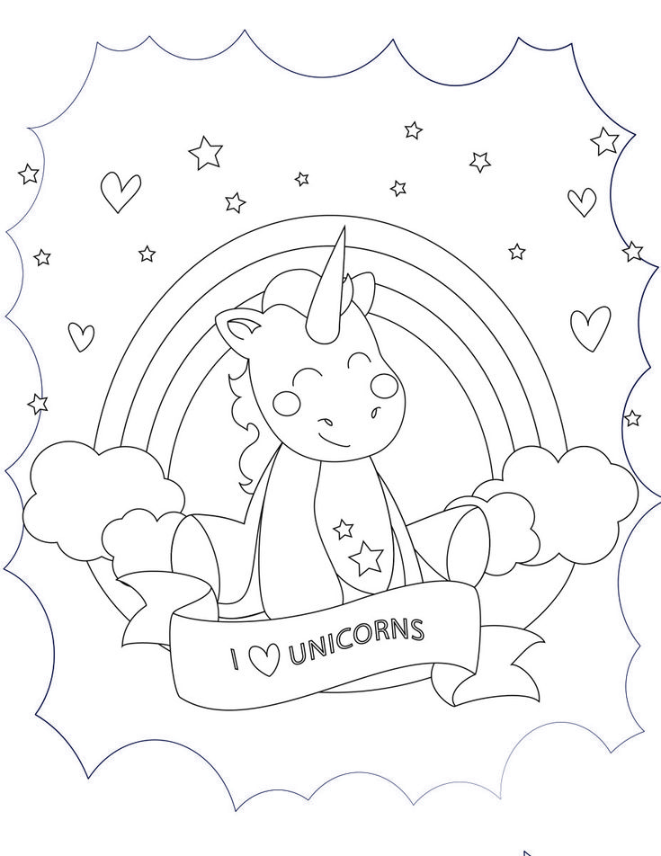 Coloring Pages Unicorn Head : The 25 best unicorn coloring pages ideas on pinterest
