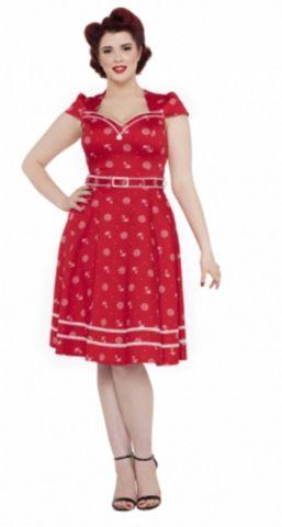 Voodoo Vixen RED Nautical Dress