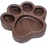 MLCS Acrylic Paw Print Bowl and Tray