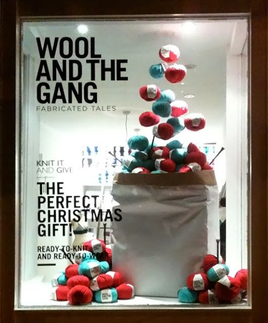 Wool and the Gang Xmas window