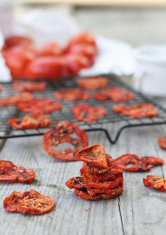Tomato chips. No oven needed. Made in minutes in the microwave!
