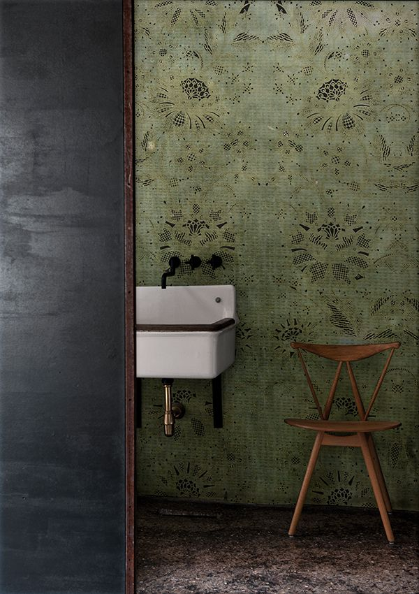 Carillon wall deco wet wallpaper carta da parati per for Carta parati vinilica bagno
