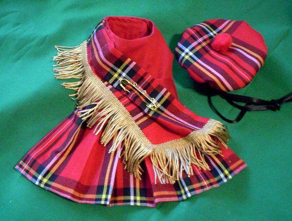 Falda escocesa para mascotas Tartan de Stewart real rojo y