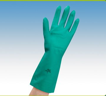 Ansell Dermo Plus Gloves: latex free glove suitable for people with sensitivity to chemicals and allergies to natural rubber latex. Made from nitrile, a strong synthetic material with superior resistance to cuts and piercing. Dermatologically tested. Superior resistance to many household chemicals including most oils, acids, turpentine, bleach, paints, solvents and oven cleaners. Cotton lined for added comfort and moisture absorbency.