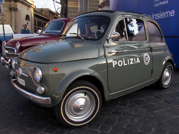 Ideal Police Pursuit car for tiny medieval Italian streets.