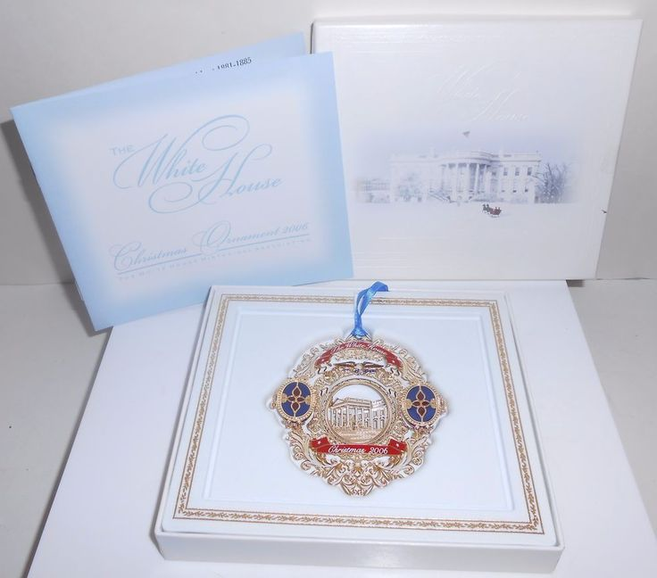 White House Christmas Ornament 2006 Historical Association With Box & Booklet