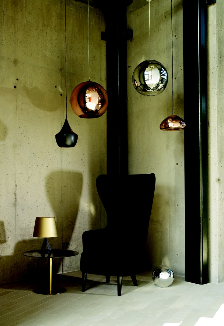focus on tom dixon featuring wingback armchair flash circle side table base table lamp mini. Black Bedroom Furniture Sets. Home Design Ideas