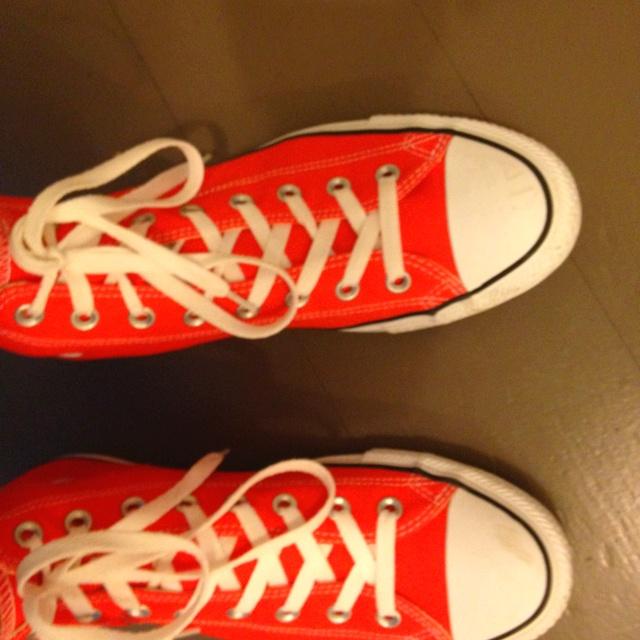 At last orange converse