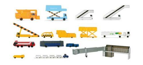 Herpa Wings Scenix Airport Accessories Set 1/500 Scale 519472 A great addition to your airport is this 19 piece accessory set!