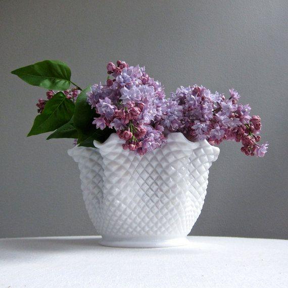 Westmoreland Milk Glass Vase
