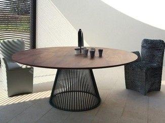mesa redonda de estilo moderno venezia mesa redonda colli casa