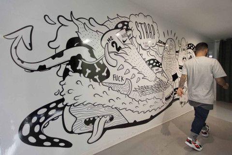 illustration - Coté Escrivá - The Mushroom Company - wall painting