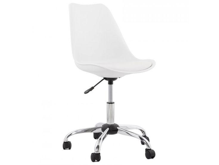 Krzesło Biurowe Edea Białe — Krzesła Kokoon Design — sfmeble.pl