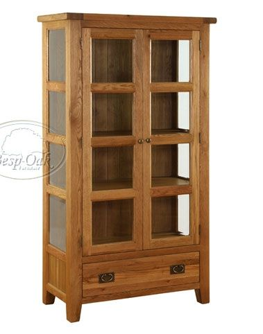 Vancouver Oak Glazed Cupboard Glazed Cupboard - Vancouver (VXA002) Made from solid European Oak, much of which is reclaimed and the rest from sustainable sources, the Vancouver furniture range is beautifully hand-crafted. This is  http://www.MightGet.com/january-2017-13/vancouver-oak-glazed-cupboard.asp