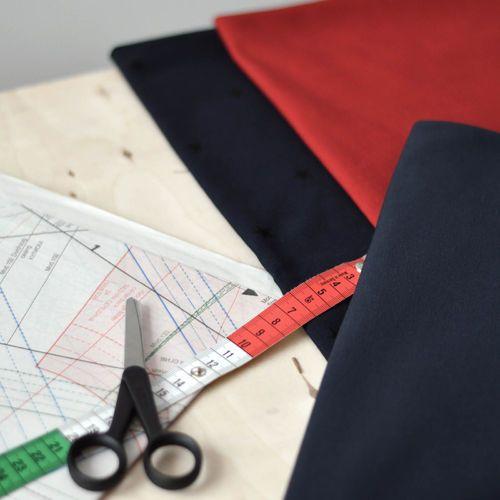 NOSH Organics Fabrics - Strech College, Chili
