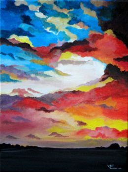 sunset Artist: vitikala, santosh Artwork title: sunset Price: $180