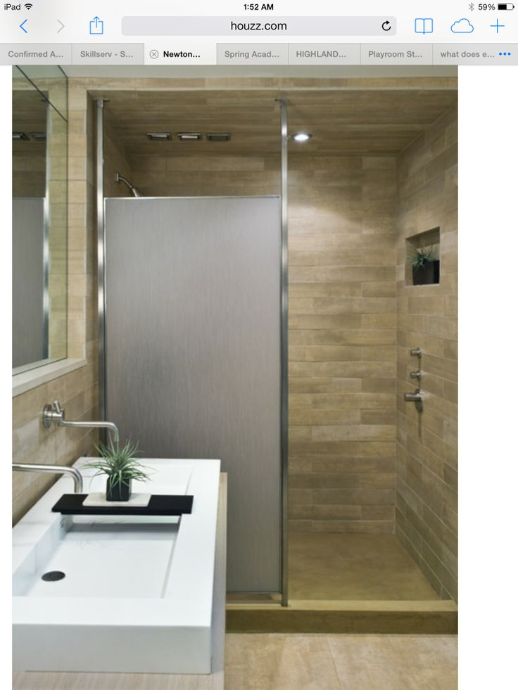 Partially open Glass shower. 17 Best images about Basement Bath on Pinterest   Over the  Knee