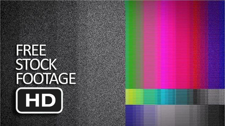 Free Stock Footage - TV Noise & Twitch