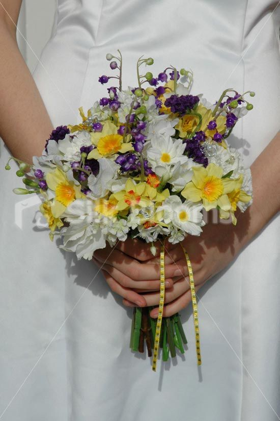 Daffodil Wedding Bouquet | ... Artificial Wild Flower Bridal Bouquet with Daffodils and Daisies