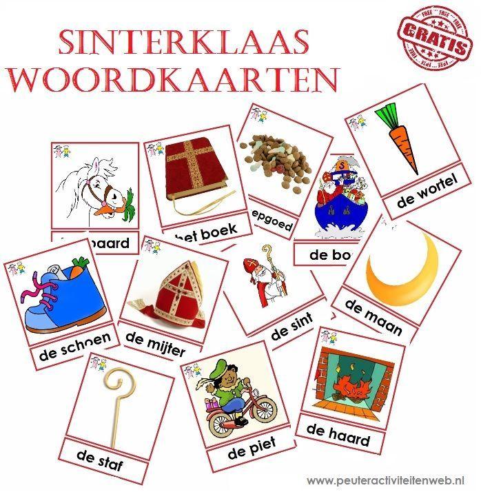 Sint woordkaarten