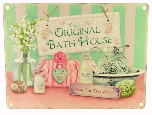 The original bath house metal sign