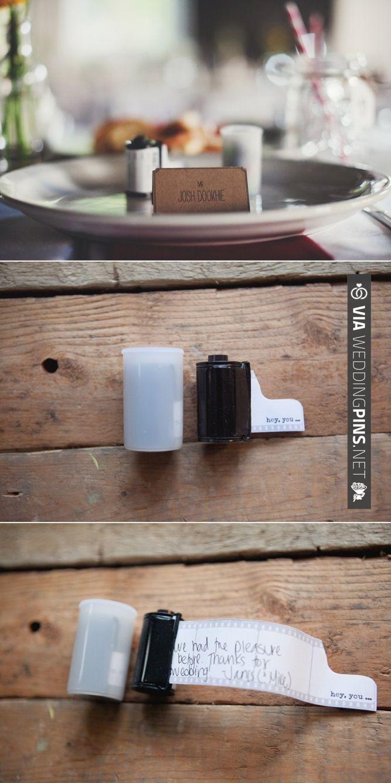 film canister wedding favours ~ such a cool idea!   CHECK OUT MORE IDEAS AT WEDDINGPINS.NET   #weddings #uniqueweddingideas #unique