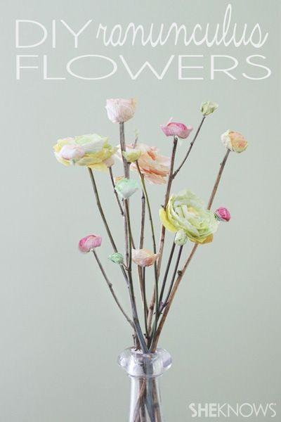DIY Ranunculus flowers