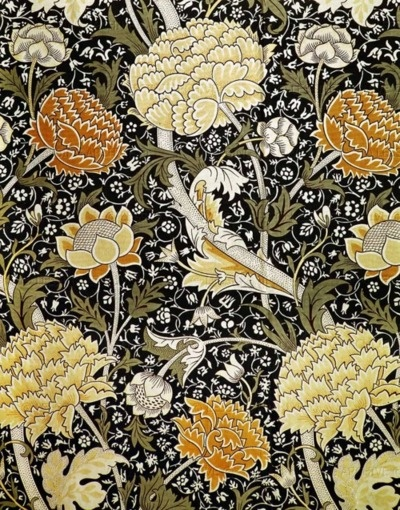 ".The ""cray"" chintz floral pattern. Design by William Morris (1884)"