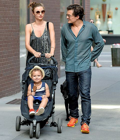 Miranda Kerr, Orlando Bloom and son Flynn | Celebrity Kids ...