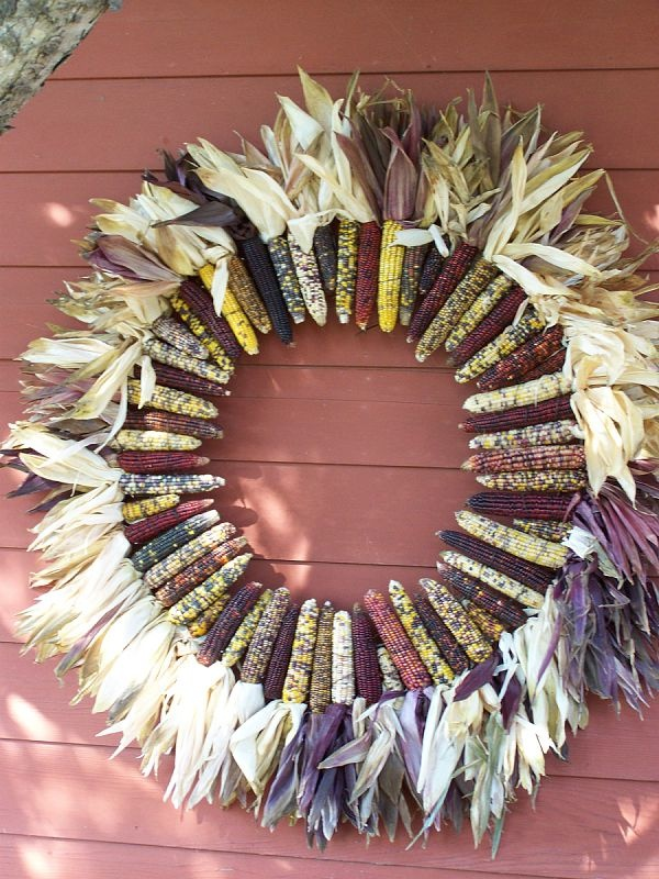 Big Indian Corn Wreath A Friend Of Mine Made For My House Loved It