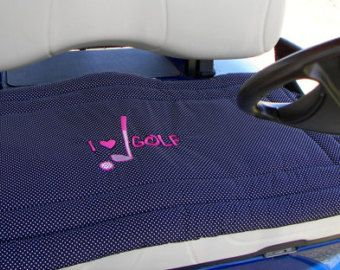 Golf Cart Seat Cover a Fashionable by Sittinprettycovers on Etsy