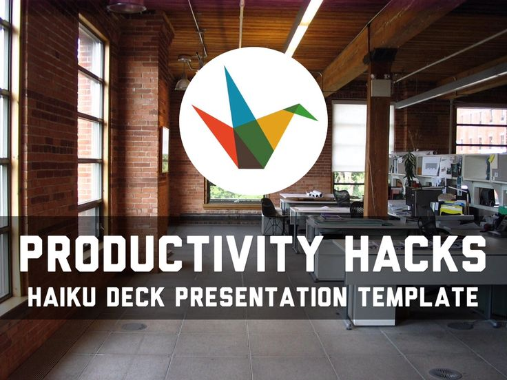 Productivity Hacks Haiku Deck Presentation Template