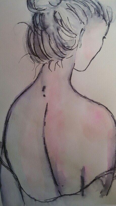 Rotulador acuarelable. #sketching
