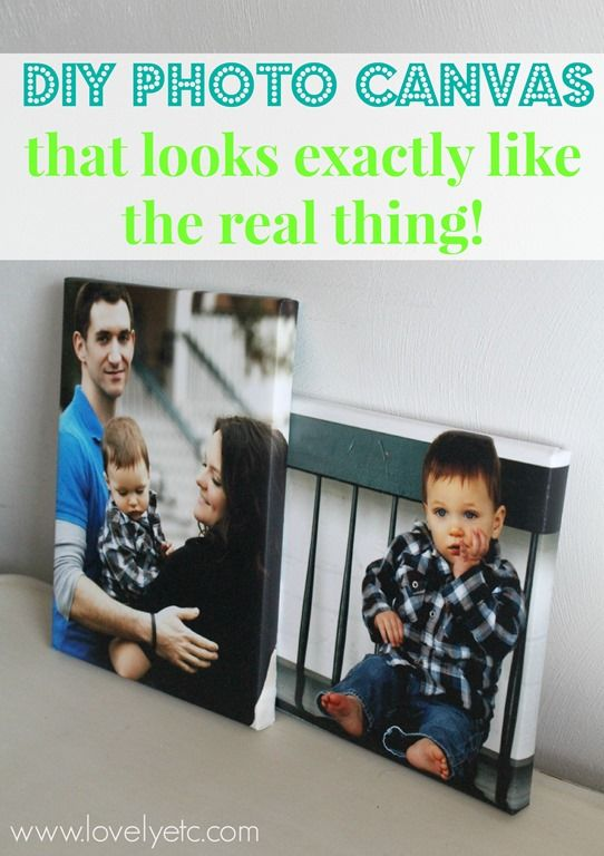 DIY photo canvas that looks just like the real thing - instructions for homemade canvases with wrapped edges and texture.